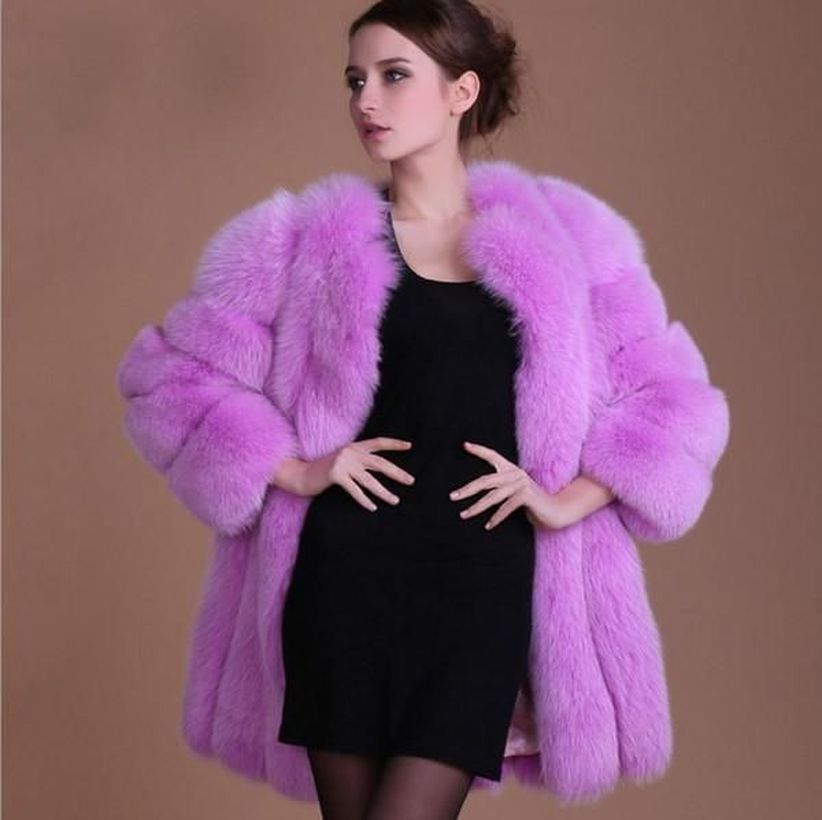 Cute-purple-fake-fur-thick-coats