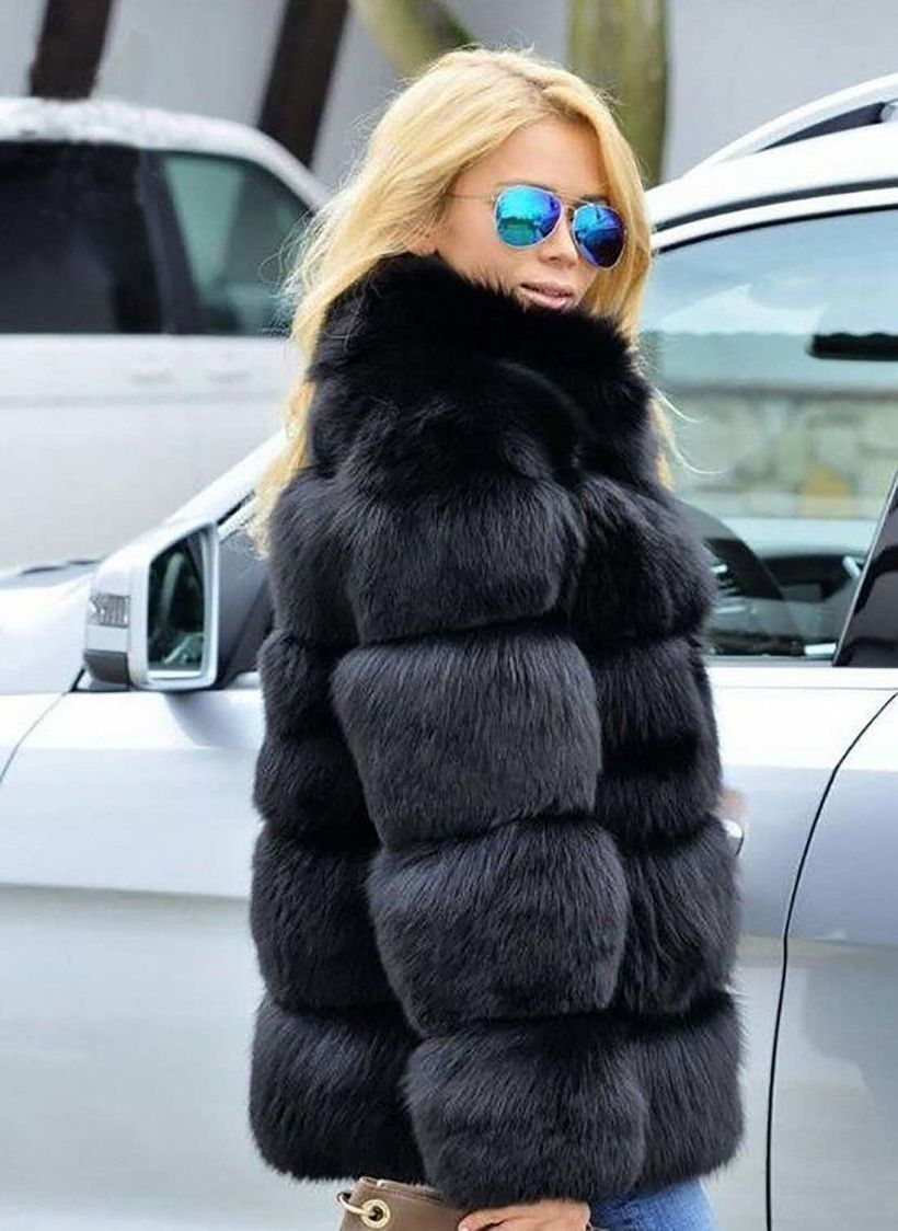 Black-fake-fur-coats-for-women