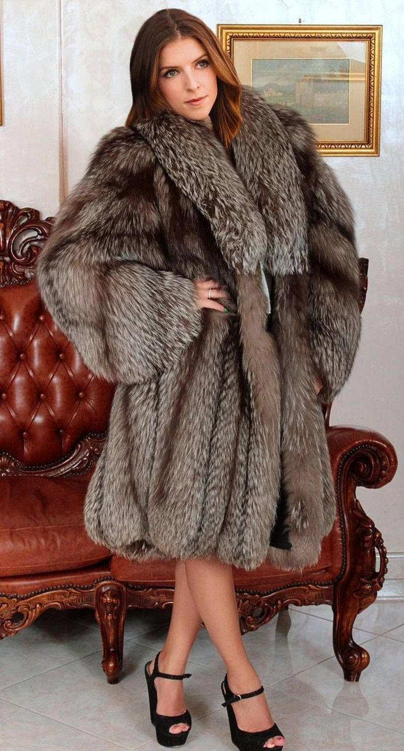 Dark-grey-fake-fur-thick-coats