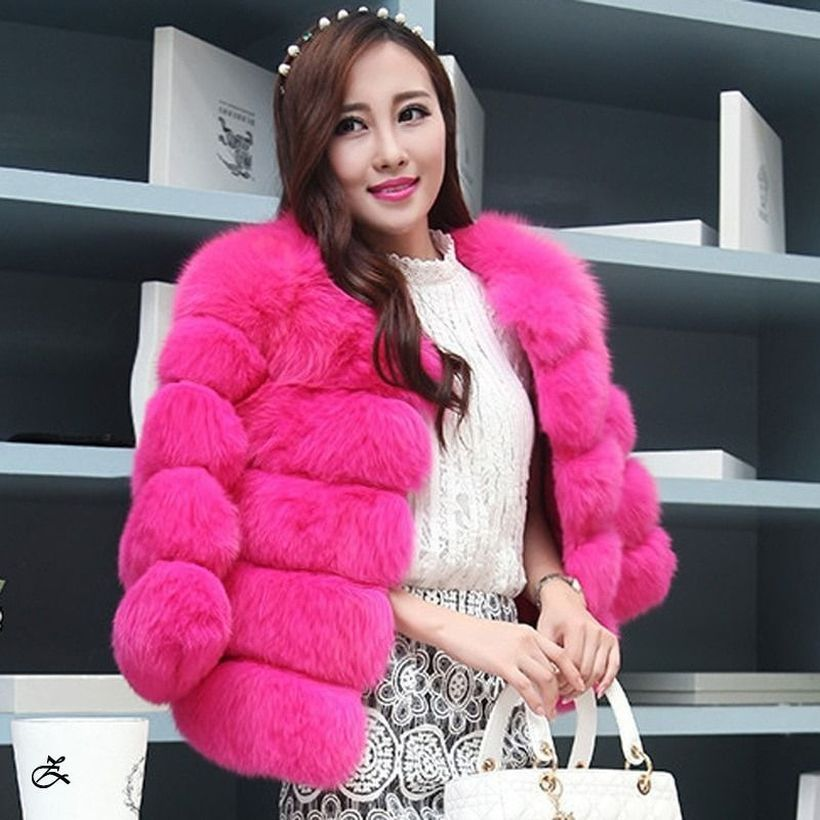 Pink-fake-fur-thick-coat