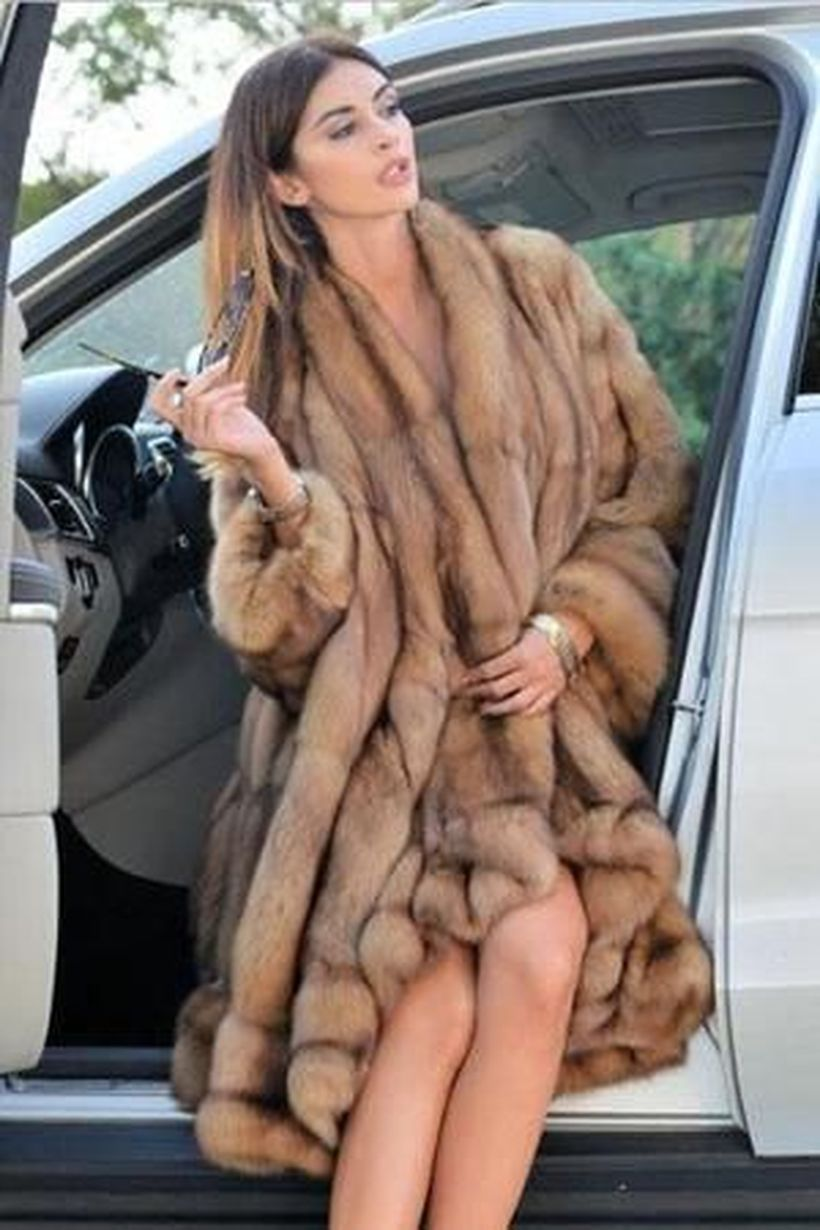 Light-brown-fake-fur-long-coats-for-women