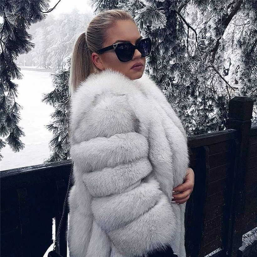 White-fake-fur-thick-coats-for-women