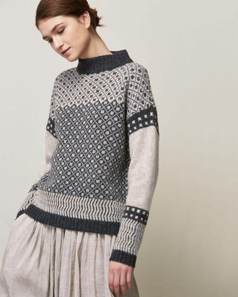Boho knit sweater for women