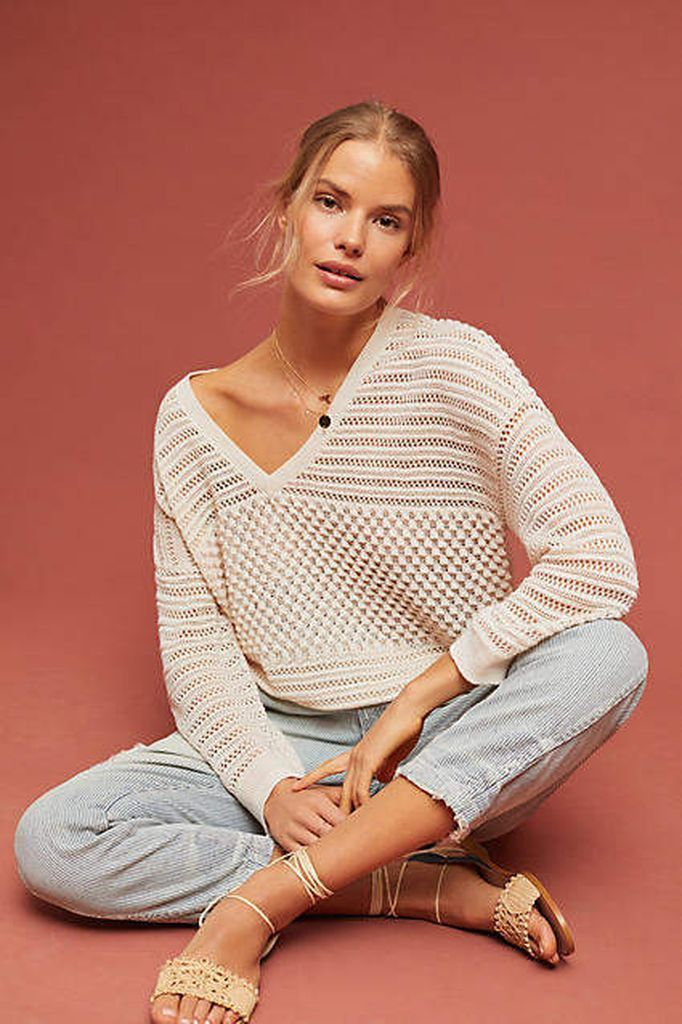 Perfect light grey knit sweater