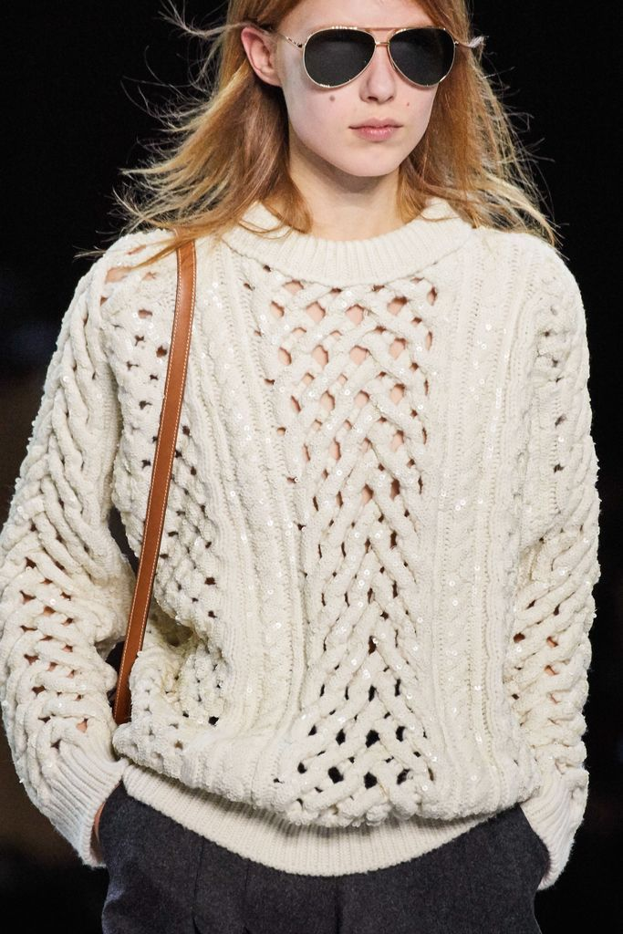 White knit sweater for women style