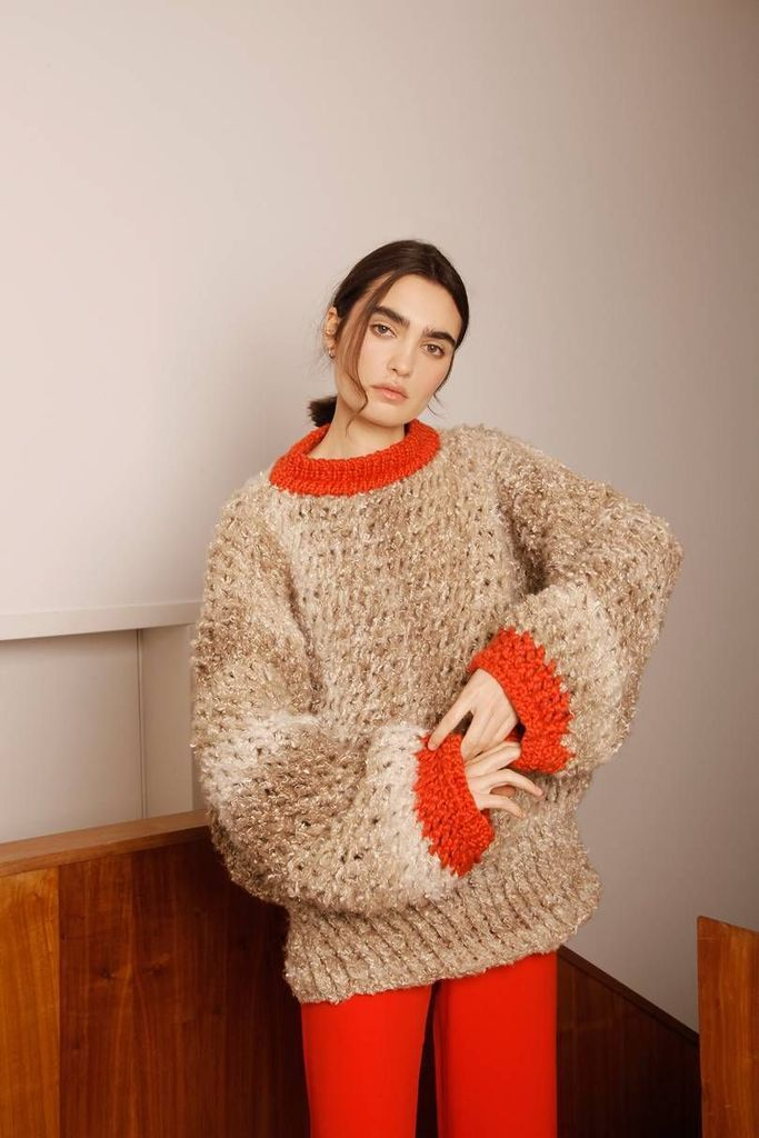 Thick knit sweater for women