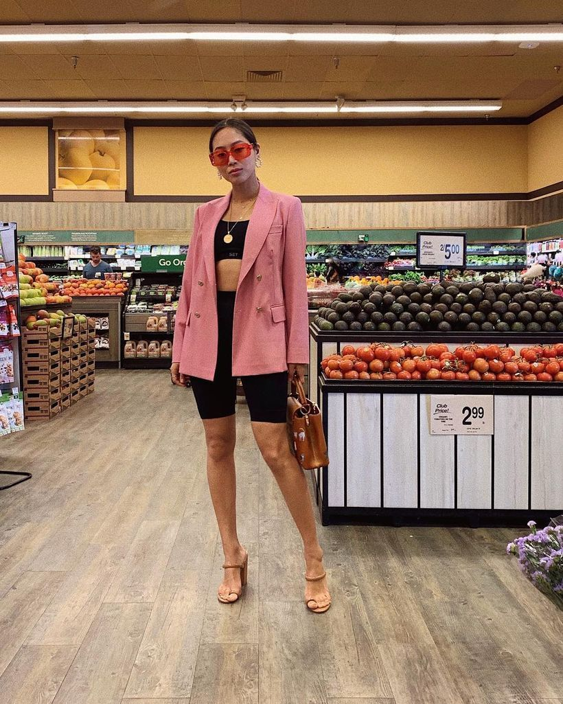 Aimee_song_of_style_msgm_pink_blazer_setactive_biking_shorts_outfit_ootd-