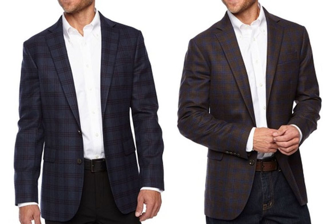 Simple-plaid-slim-fit-sportcoat-for-men-with-long-sleeve-white-shirt-for-your-style