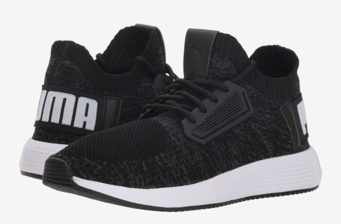 Black puma shoes for boys first day school to look amazing