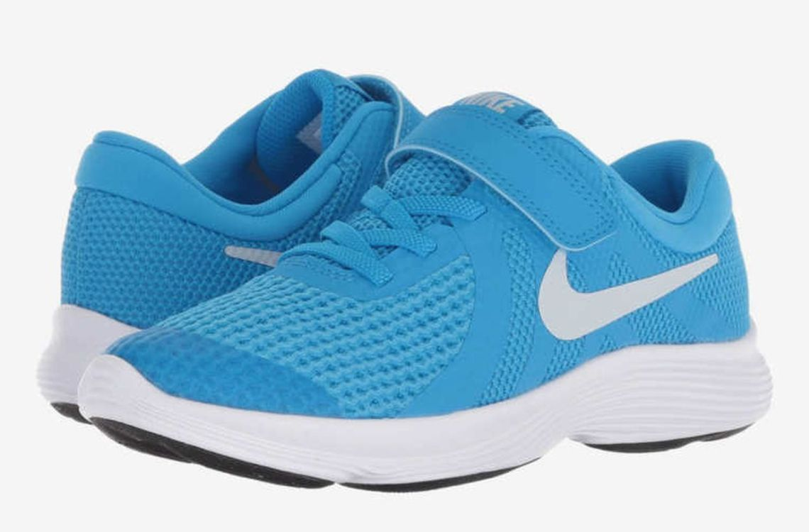 Blue nike shoes for boys first day school to look cool