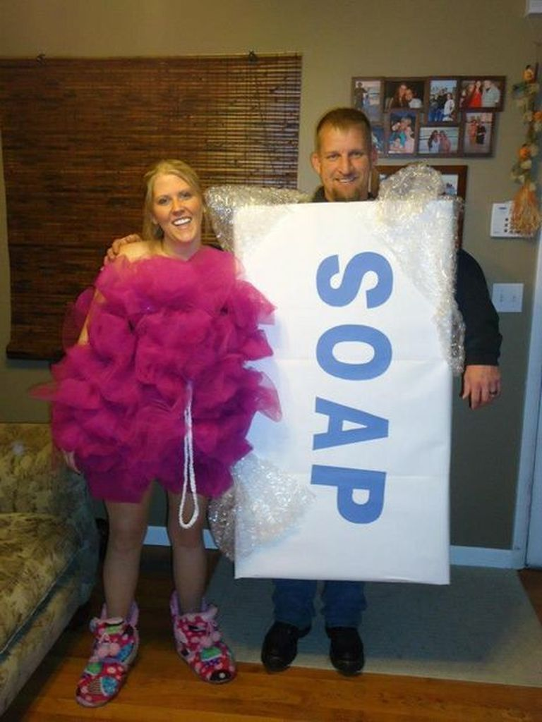 Creative halloween outfit with costume soap