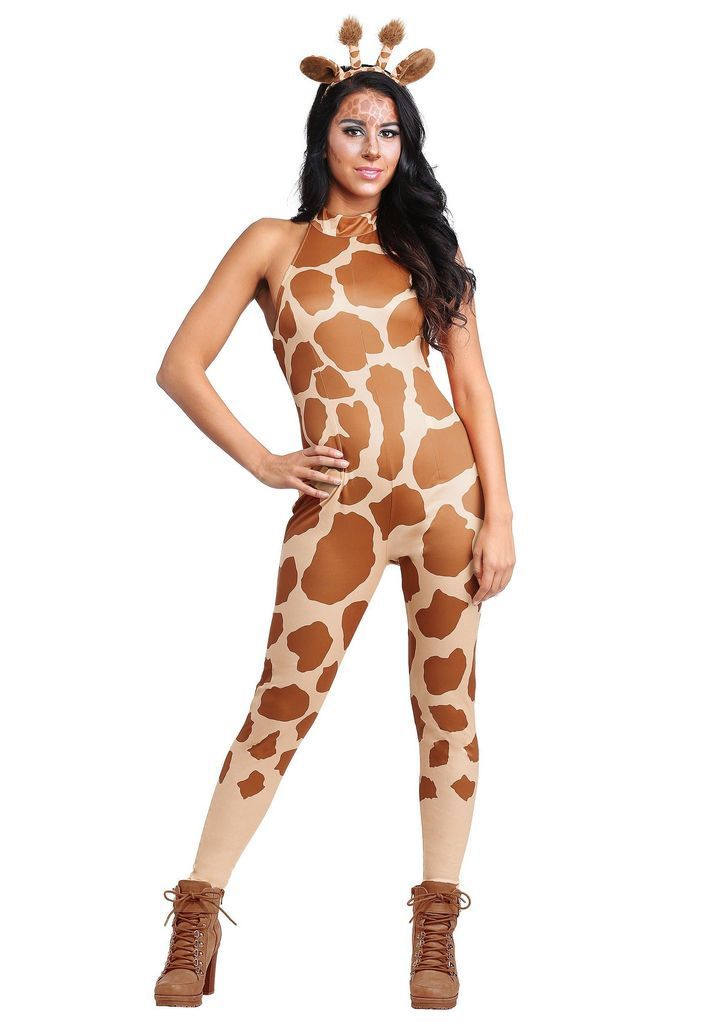 Creative halloween costumes with giraffe clothes