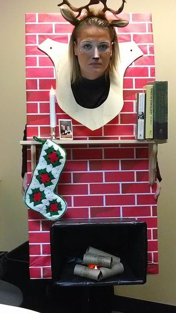 An awesome costumes for halloween with brick design