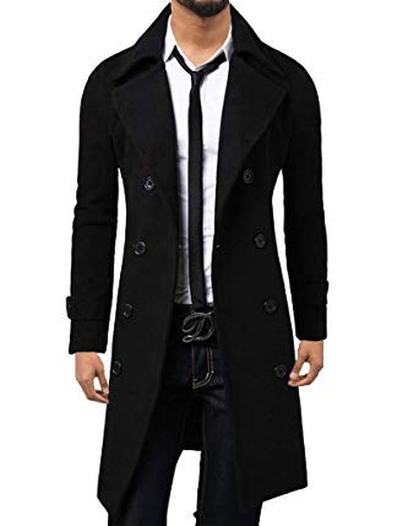 Best long black coat for men for elegant men