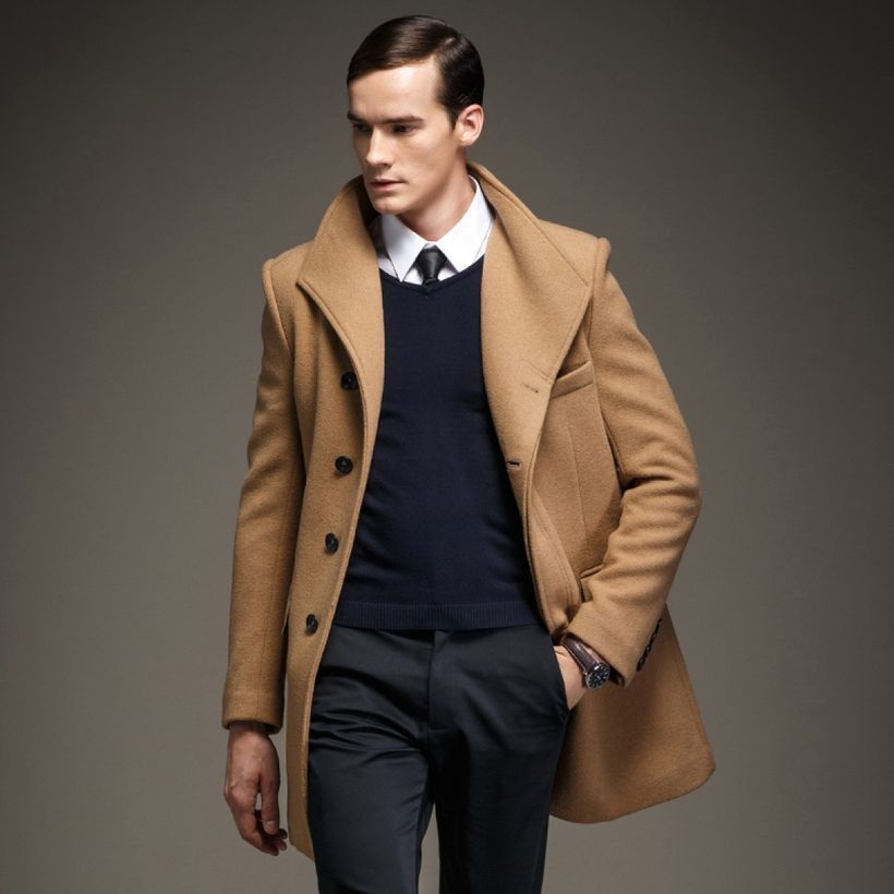 An amazing long brown coat for men for best style