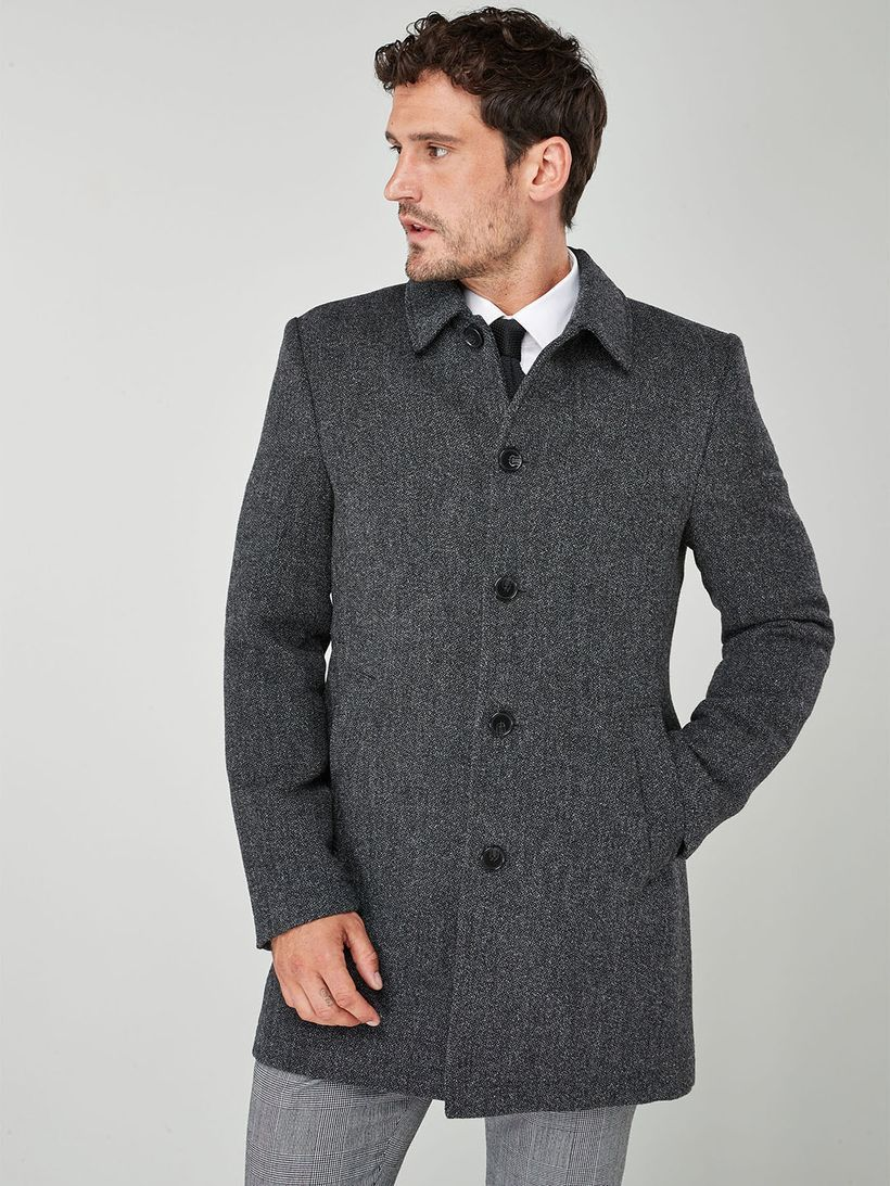 Long sleeves gray coat for men to look handsome