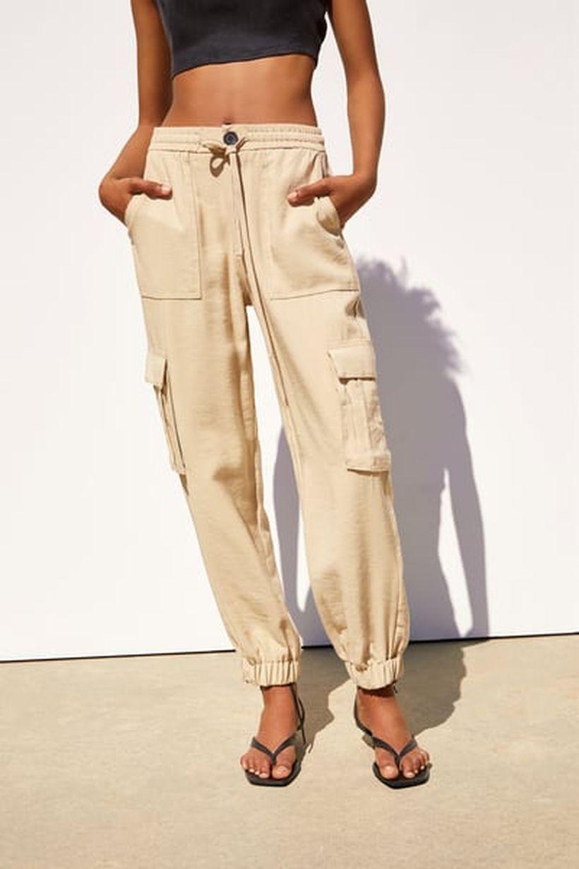 Simple-beige-cargo-trouser
