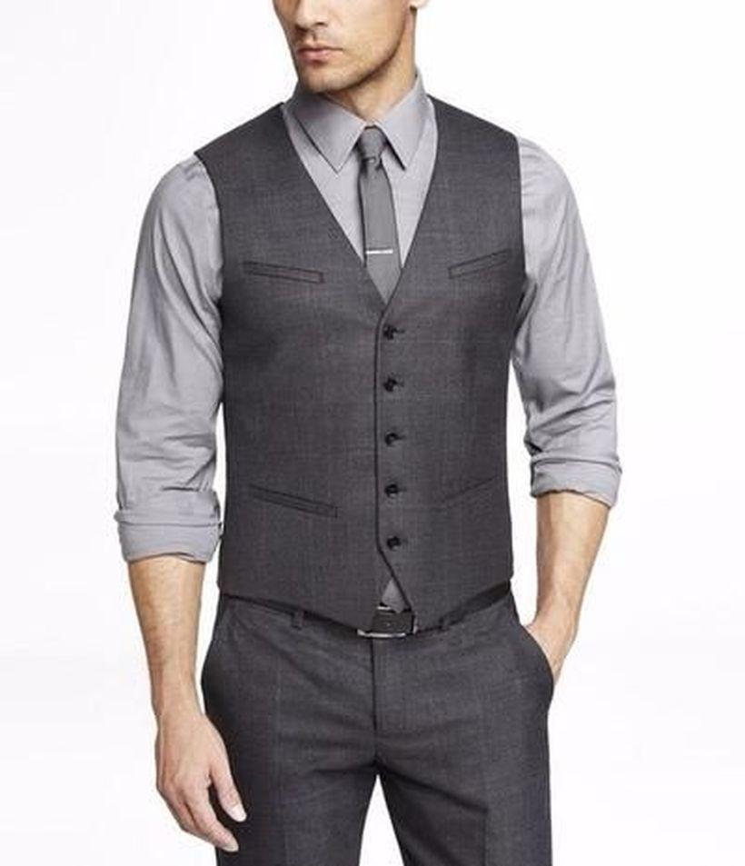 Best-combination-grey-vest-and-pant