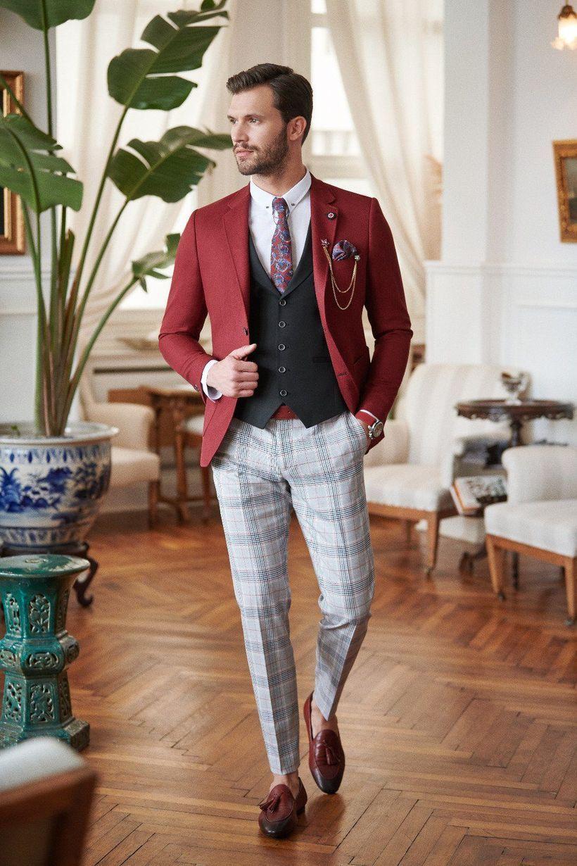 Black-vest-and-plaid-pants