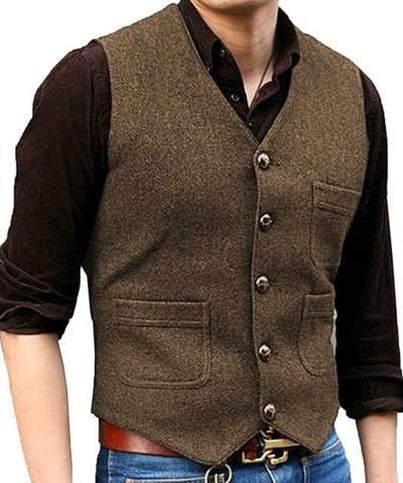 Brown-vest