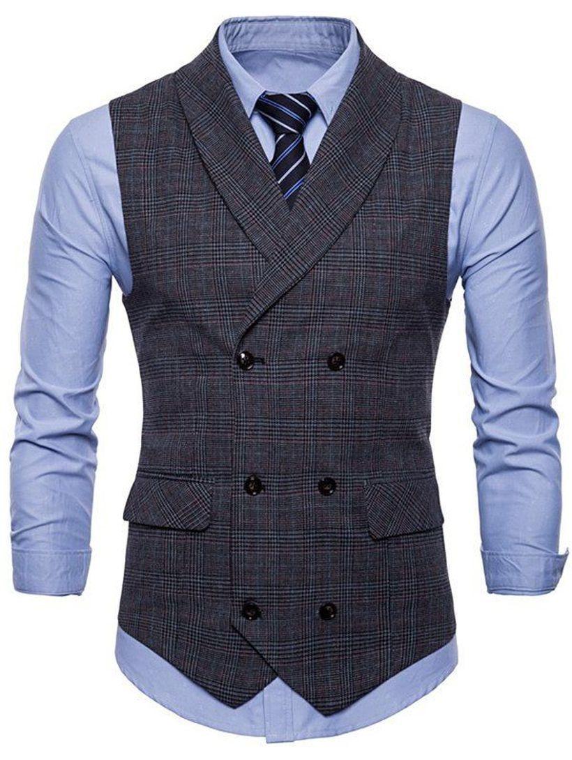 Long-sleeve-blue-shirt-and-plaid-vest