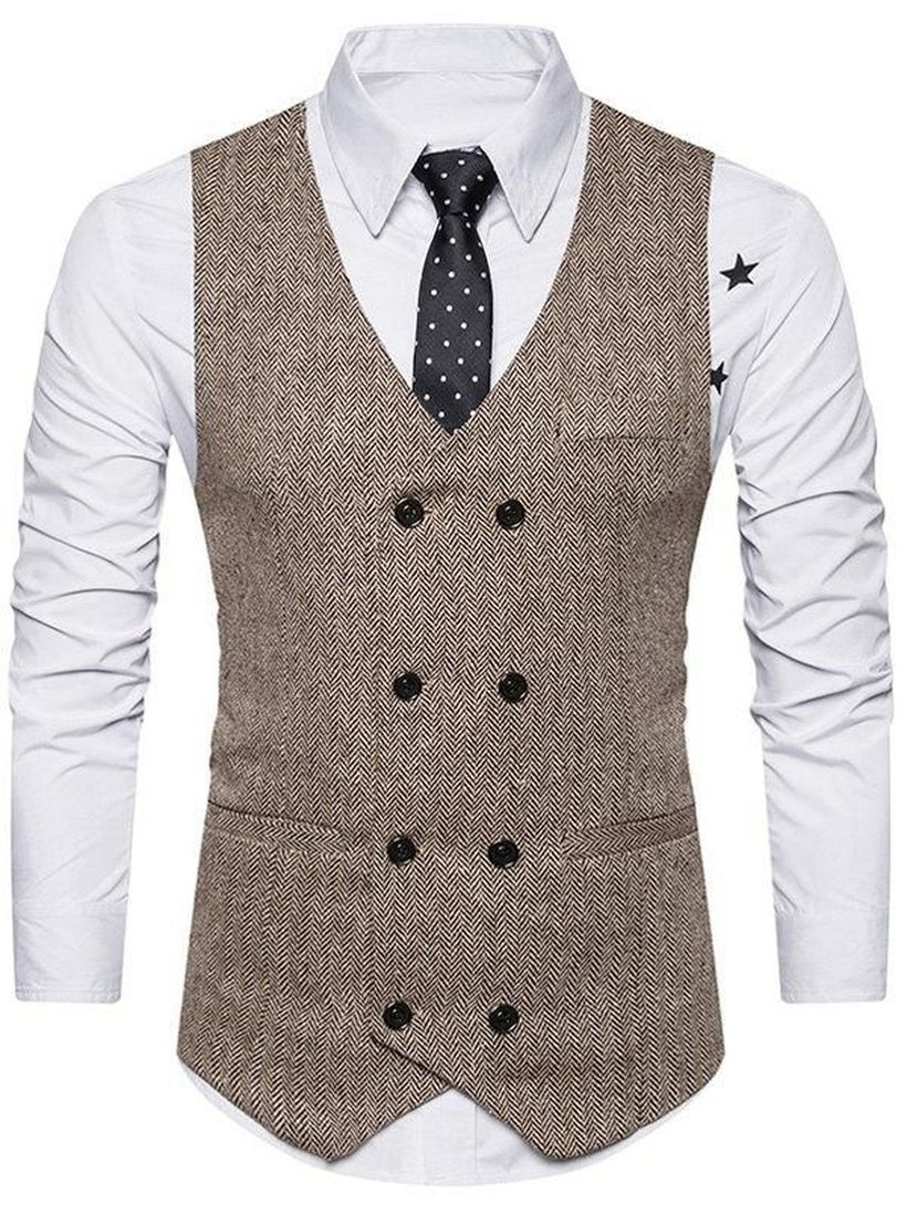Simple-grey-vest-with-double-buttons