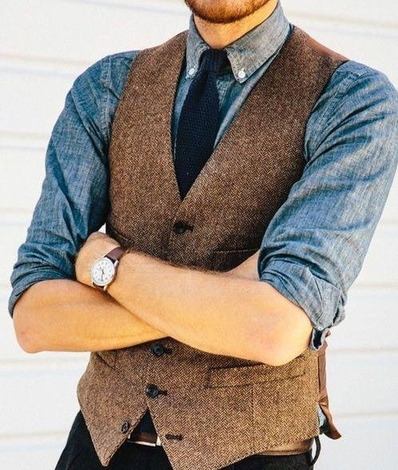 Simple-brown-vest-for-men