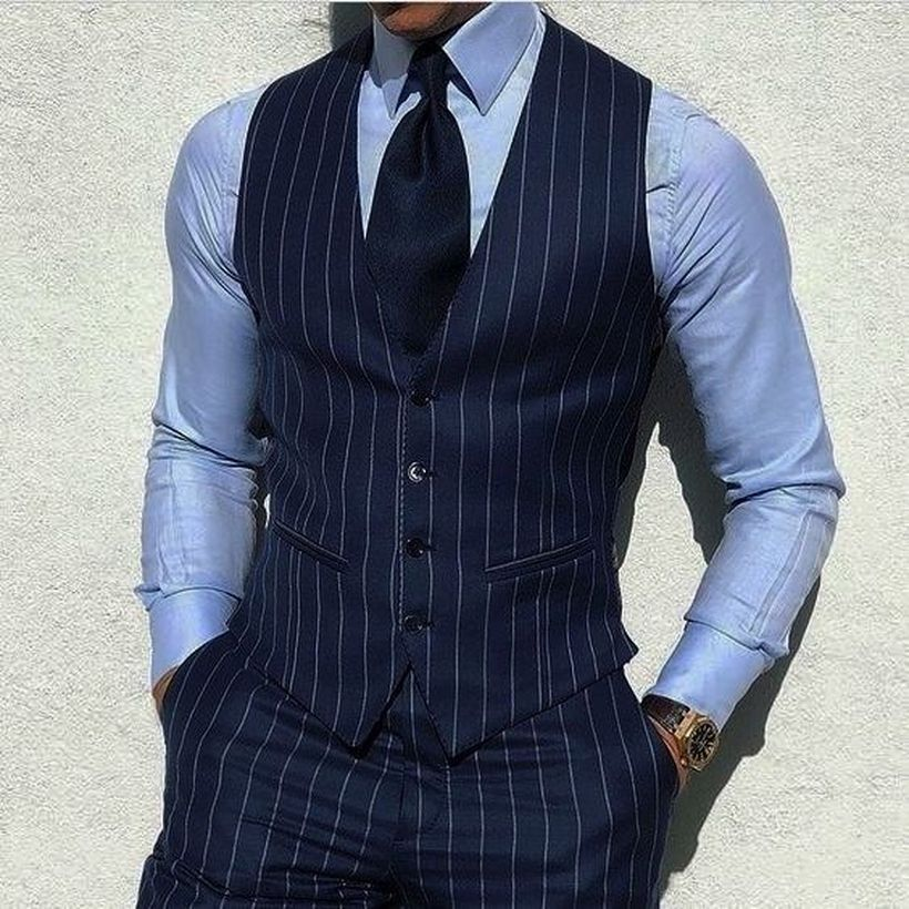 Simple-striped-vest