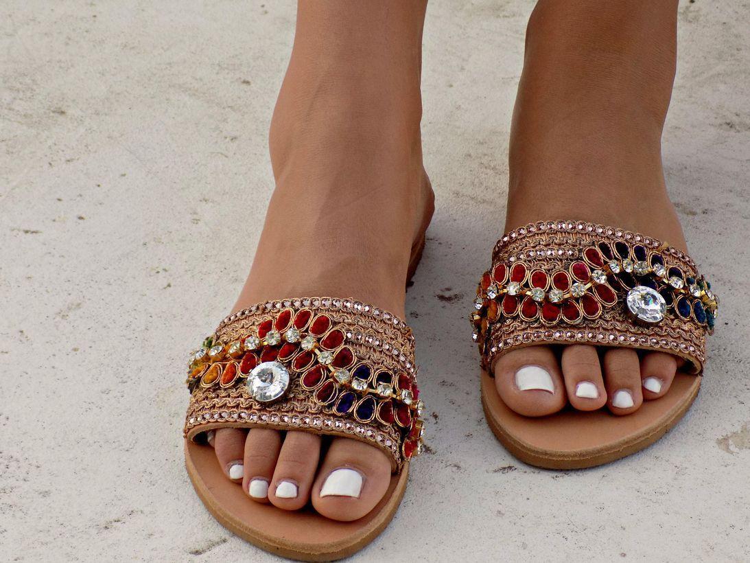 Elegant footwear with diamond ornament ideas for beautiful women