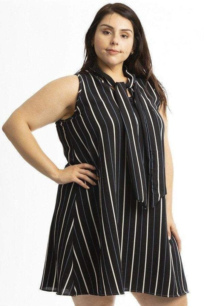 Simple striped dress for women