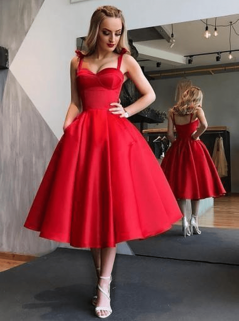Red porm dress for women