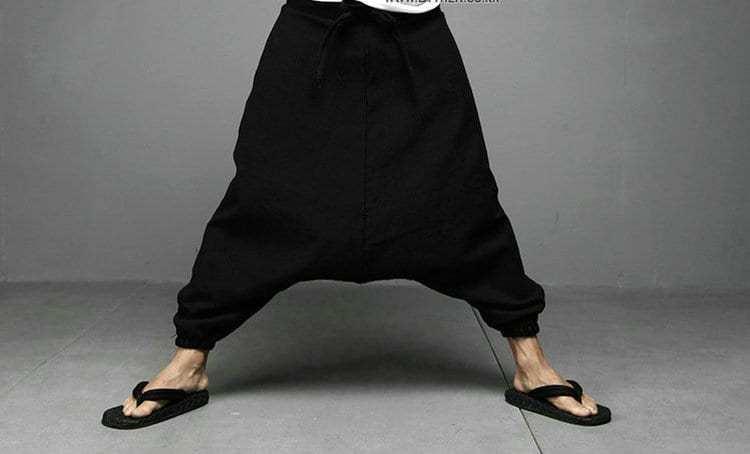 New-men-women-japanese-samurai-style-boho-casual-low-drop-crotch-loose-fit-harem-baggy-hakama