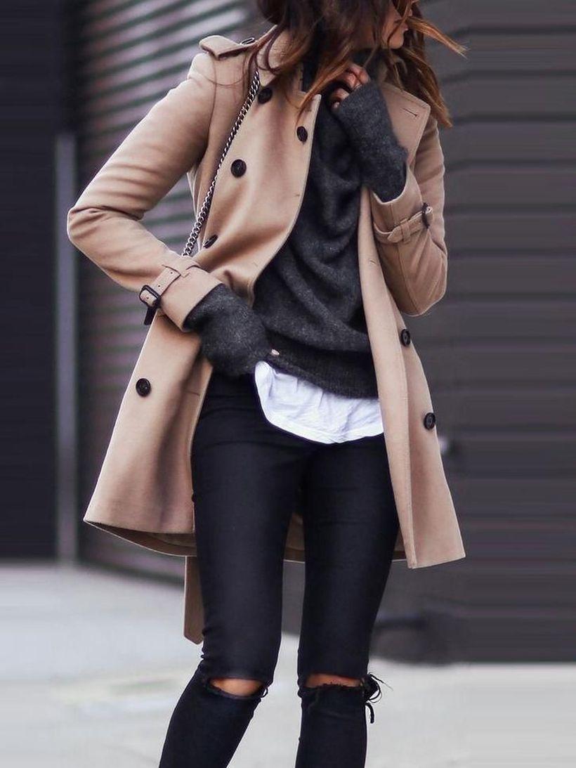 Beige-coat-and-black-pants