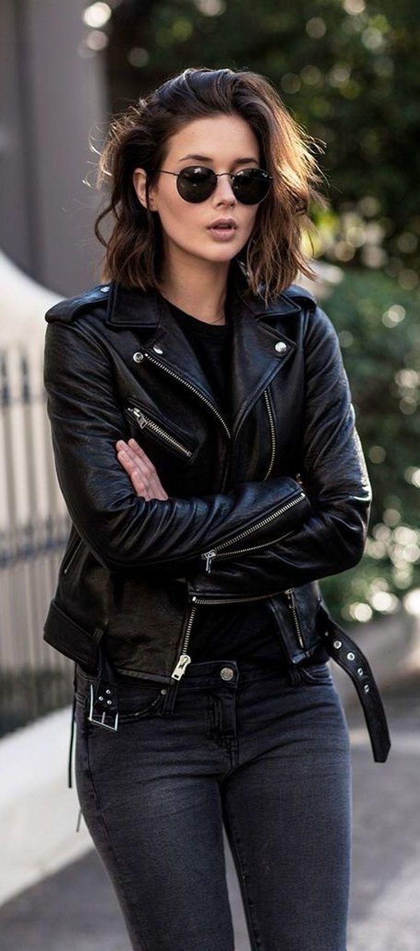 Black-leather-jacket-and-denim-pants