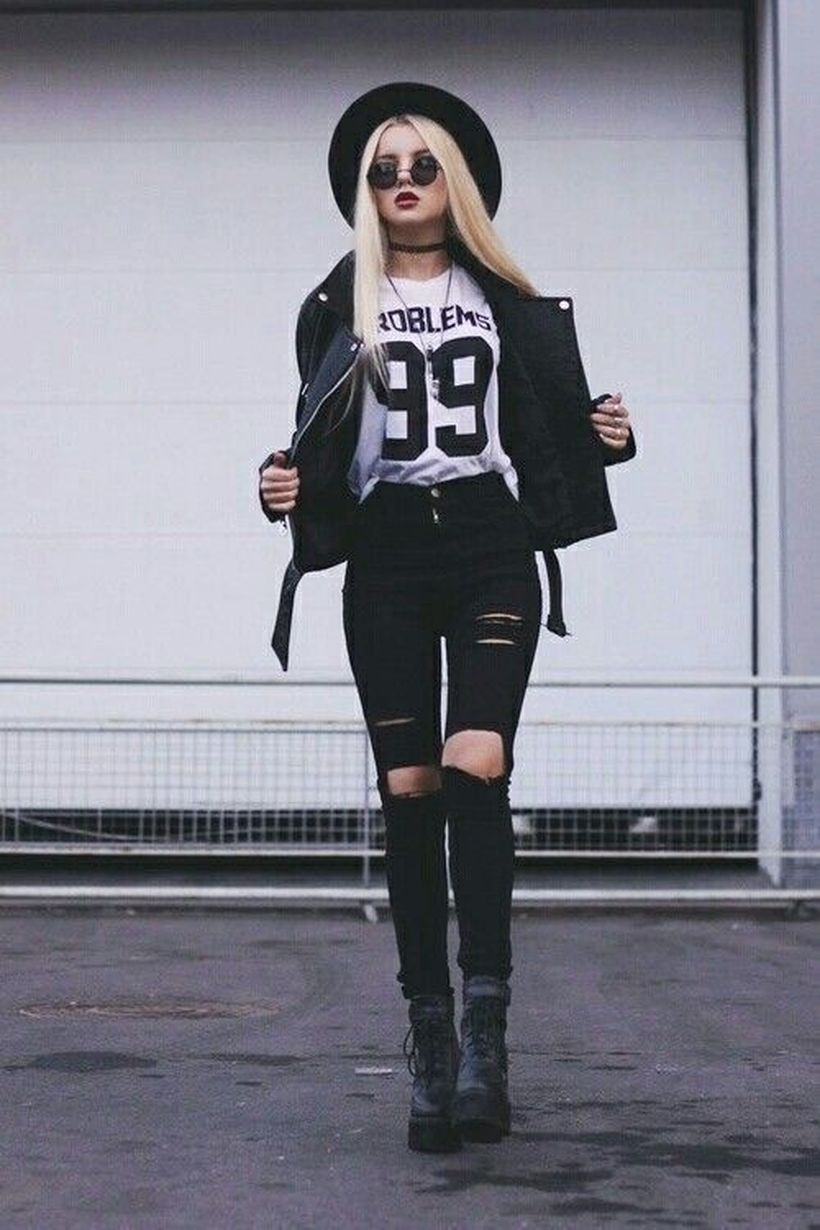 Combination-white-t-shirt-and-black-jacket