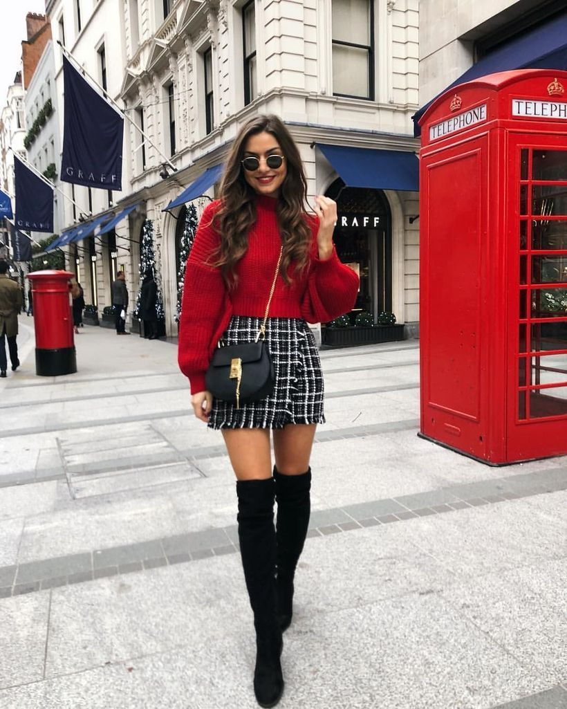 Red-sweater-knit