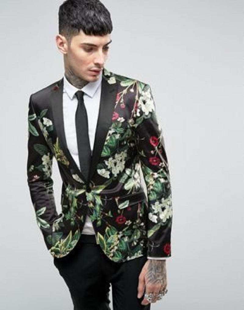 Super skinny flower blazer