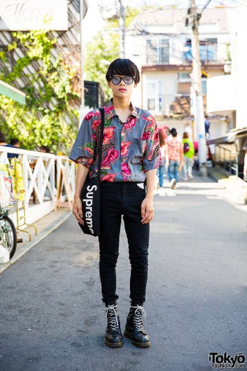 Floral outfit to look nerd