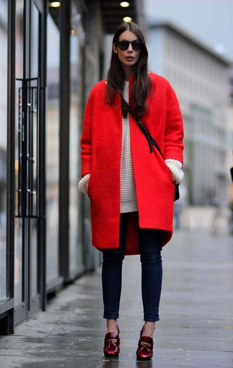 Awesome long red coat ideas
