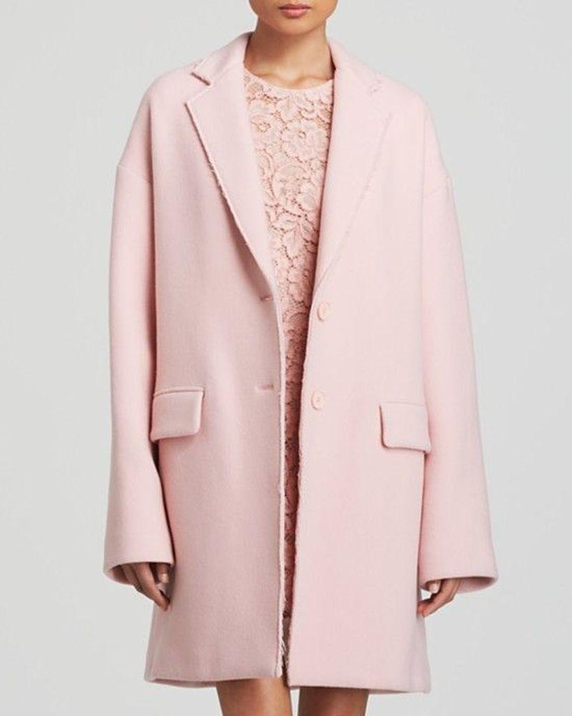 Best long pink coat ideas