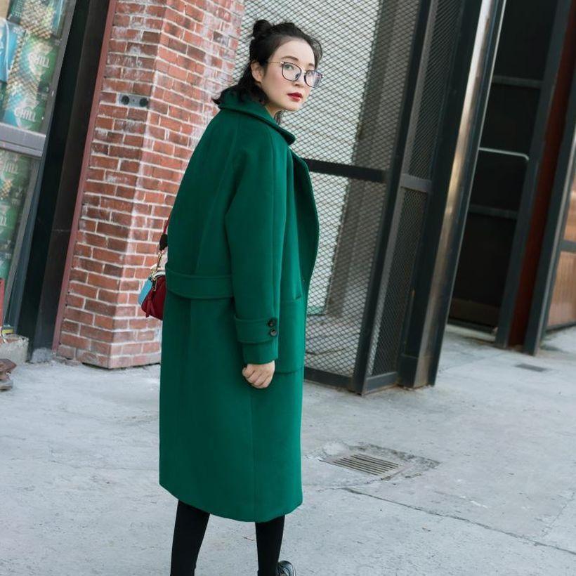 Interesting long green coat ideas