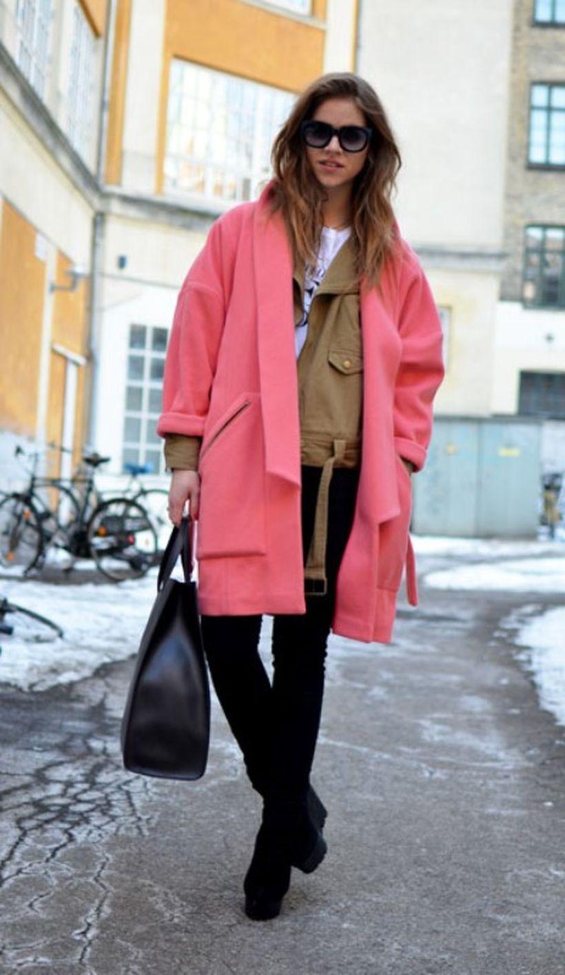 Pretty pink coat ideas