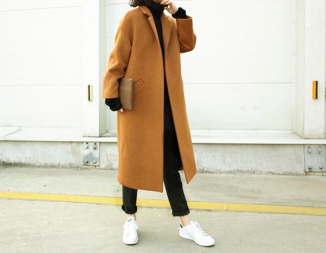 Stunning long brown coat ideas