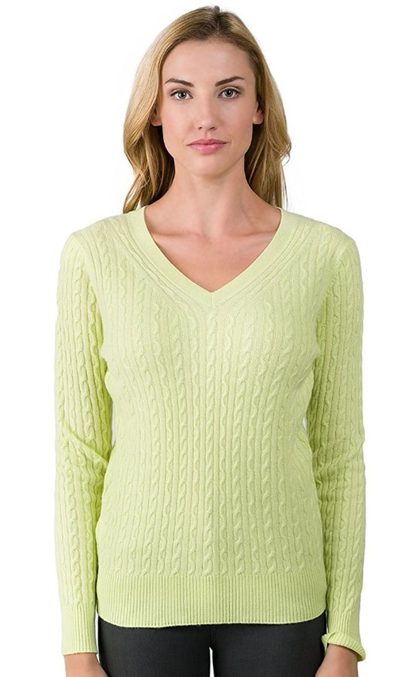 Lovely long sleeves sweaters with light green color to look wonderful
