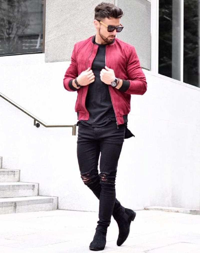 Pop red boomber jacket