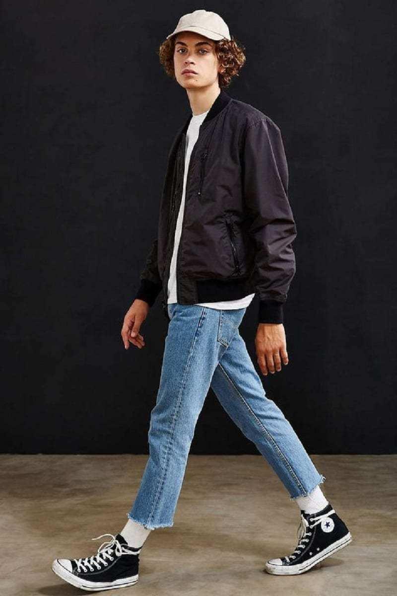 Uo nylon ace bomber jacket