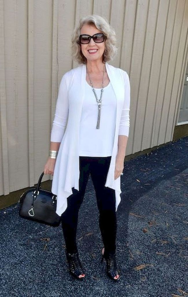 Beautiful black and white outfit