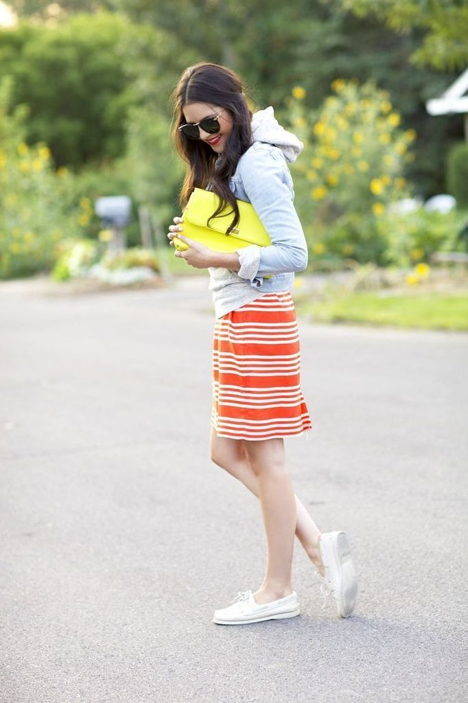 Beautiful-casual-outfit-with-light-grey-hoodie-combined-with-striped-dress-to-beautify-your-style