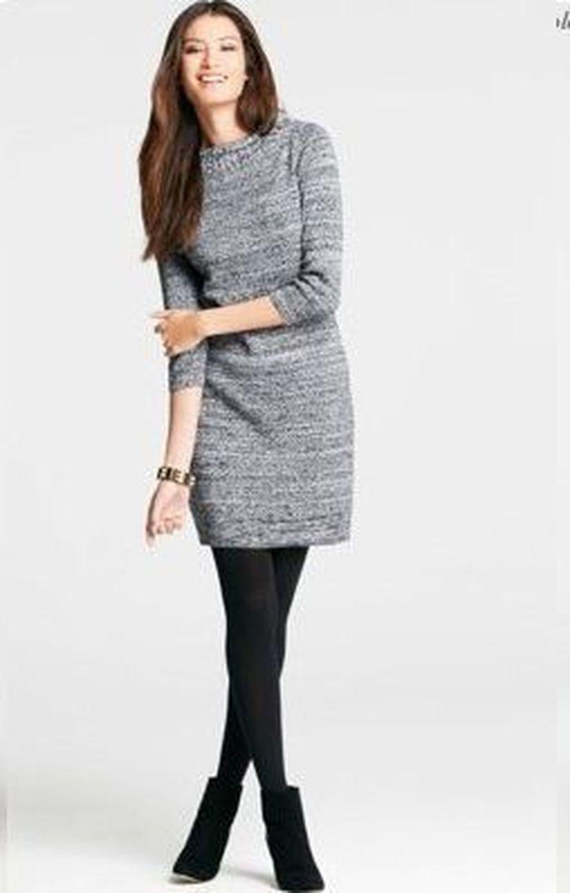 Cute-grey-long-sweater