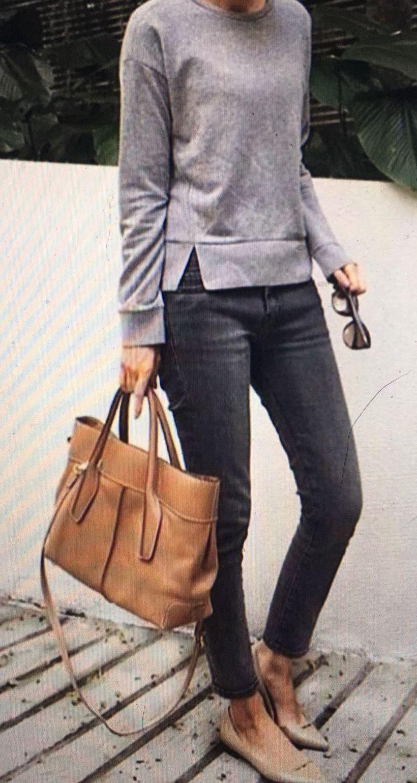 Grey-sweater-and-denim-pants